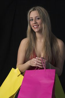 Free Woman  With Shopping Bags Royalty Free Stock Photos - 2446858