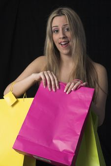 Free Woman  With Shopping Bags Royalty Free Stock Images - 2446869