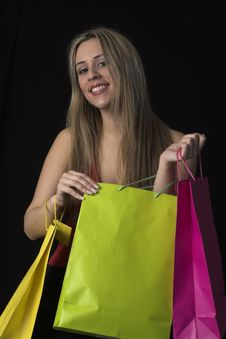 Free Woman  With Shopping Bags Stock Photo - 2446870