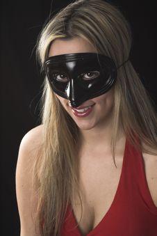 Free Woman Wearing A Black Mask Stock Image - 2446891