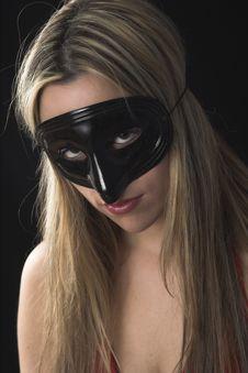 Free Woman Wearing A Black Mask Stock Photography - 2446922