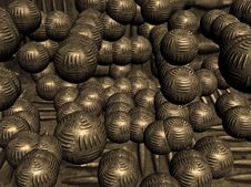 Heavy Metal Balls Stock Images