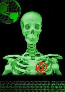 Free Skeleton And Globe Stock Photos - 2448173