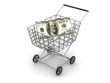 Free Consumer S Basket And Dollar Stock Photo - 2448480