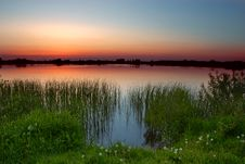 Free Dusk By The Lake Royalty Free Stock Photo - 2449085