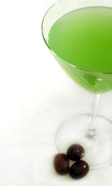 Free Green Cocktail With Grapes Stock Photo - 2449490