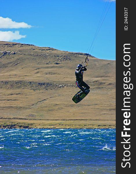 Kiter scenic jump