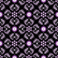 Free Seamless Black Vintage Pattern Stock Image - 24406281