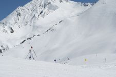 Skier On Mountain In Alps Royalty Free Stock Image