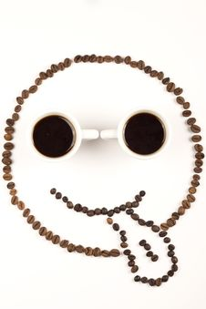 Free Funny Face From Coffee Stock Photo - 24402540