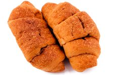 Pair Of Croissant Stock Photography