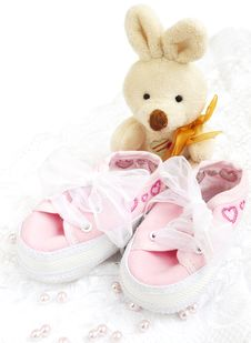 Free Baby Shoes Royalty Free Stock Images - 24403969