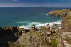 Free Old Mine Workings And Cornish Cliffs Near Tintagel Royalty Free Stock Photo - 24407355