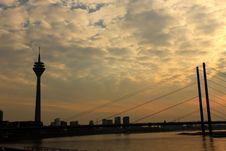 Free Dusseldorf Skyline, Germany Royalty Free Stock Images - 24408349