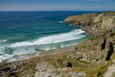 Free Treknow Beach Near Tintagel In North Cornwall Uk Royalty Free Stock Photography - 24408457