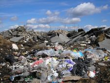 Free Clouds Over Trash Stock Images - 24409284