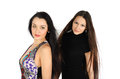 Free Two Beautiful Brunette Girls Look At Camera Stock Image - 24413751