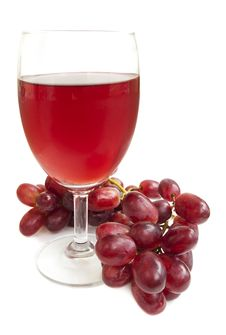 Free Glass Of Red Grape Juice Royalty Free Stock Photos - 24413618
