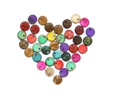 Heart Shape From Colorful Beads Royalty Free Stock Photography