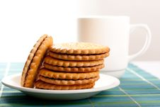 Free Coffeebreak  With Cookies Royalty Free Stock Images - 24416499