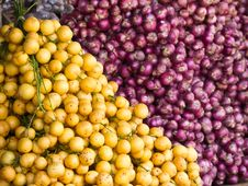 Free Burmese Grape And Shallot Stock Image - 24417651