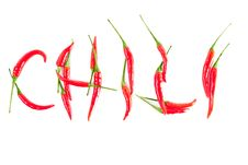 Free Red Peppers In A Word CHILI Stock Photography - 24418382
