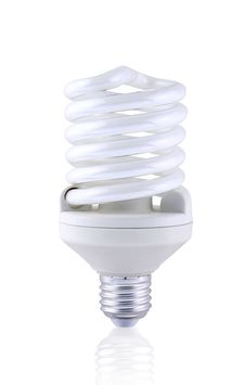 Free Compact Fluorescent Spiral Lightbulb Stock Images - 24418444