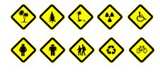 Free The Various Traffic Signs. Stock Photography - 24419892