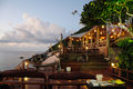 Free Scenic Restaurant At Nightfall Royalty Free Stock Photography - 24421027