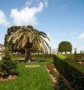Free Fragment Of Famous Bahai Gardens In Haifa Stock Photos - 24424093