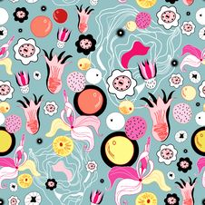 Free Floral Background With Fruit Stock Images - 24422274