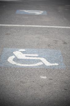 Handicap Sign Stock Photo