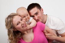 Free Happy Family Royalty Free Stock Photo - 24423955