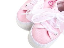 Free Pink Baby Shoes Stock Photos - 24426313