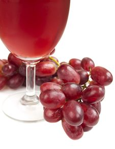 Free Glass Of Red Grape Juice Royalty Free Stock Images - 24426319