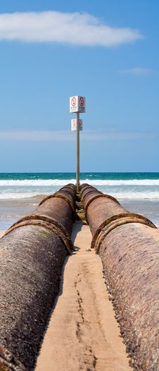 Free Storm Drain Pipes, Manly Beach Royalty Free Stock Image - 24426926