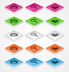 Free Isometric Icons Stock Images - 24428094