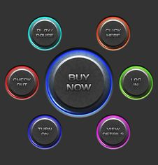 Free Vector Textured Buttons Royalty Free Stock Photography - 24428167