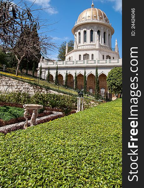 Baha i Gardens and temple dome