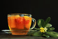 Free Hot Tea With A Flower Stock Photos - 24432483