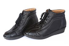 Free Pair Of Black Women S Short Boot Stock Image - 24430641