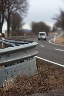 Free Country Road With Crash Barrier Stock Photography - 24430782