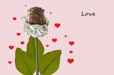 Free Chocolate Rose Royalty Free Stock Photos - 24431618