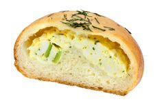 Free Bun Filled With Eggs Stock Image - 24432631