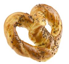 Free Pretzels With Caraway Royalty Free Stock Photography - 24432637