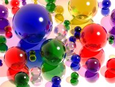 Free Colored Glass Balls Royalty Free Stock Photography - 24433317