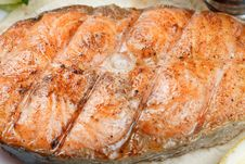 Free Grilled Salmon Fish Royalty Free Stock Photography - 24433867