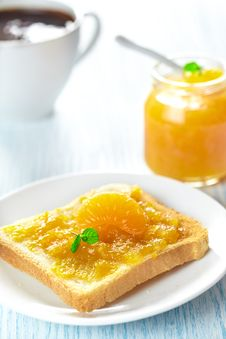 Free Toast With Jam Stock Photos - 24436923