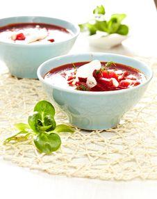 Free Borscht Soup Royalty Free Stock Photography - 24438277