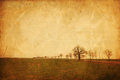 Free Rural Landscape With Paper Texture Stock Image - 24440981
